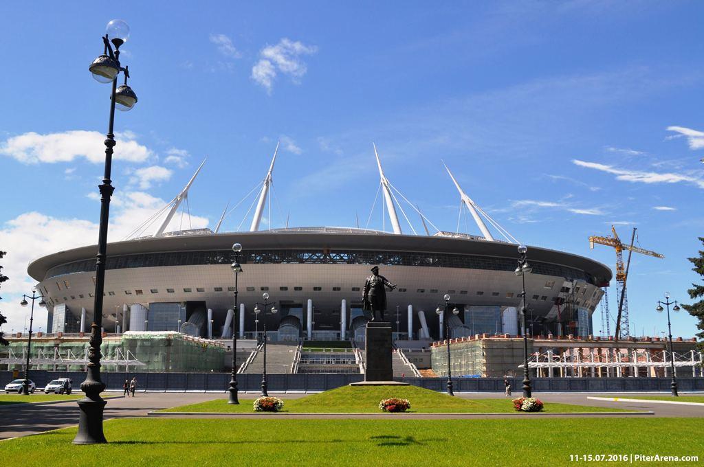Фото стадиона на Крестовском от 11-15 июля