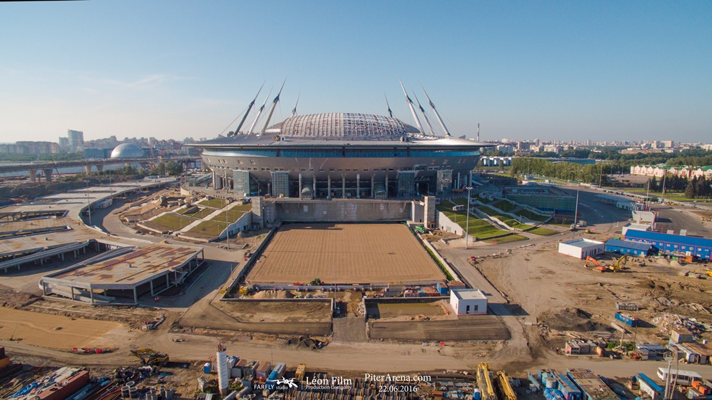 Stadium on Krestovsky. Airphotos. June