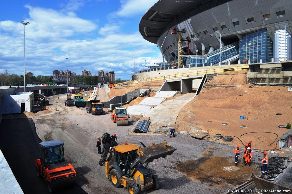 Фото стадиона от 7 июня