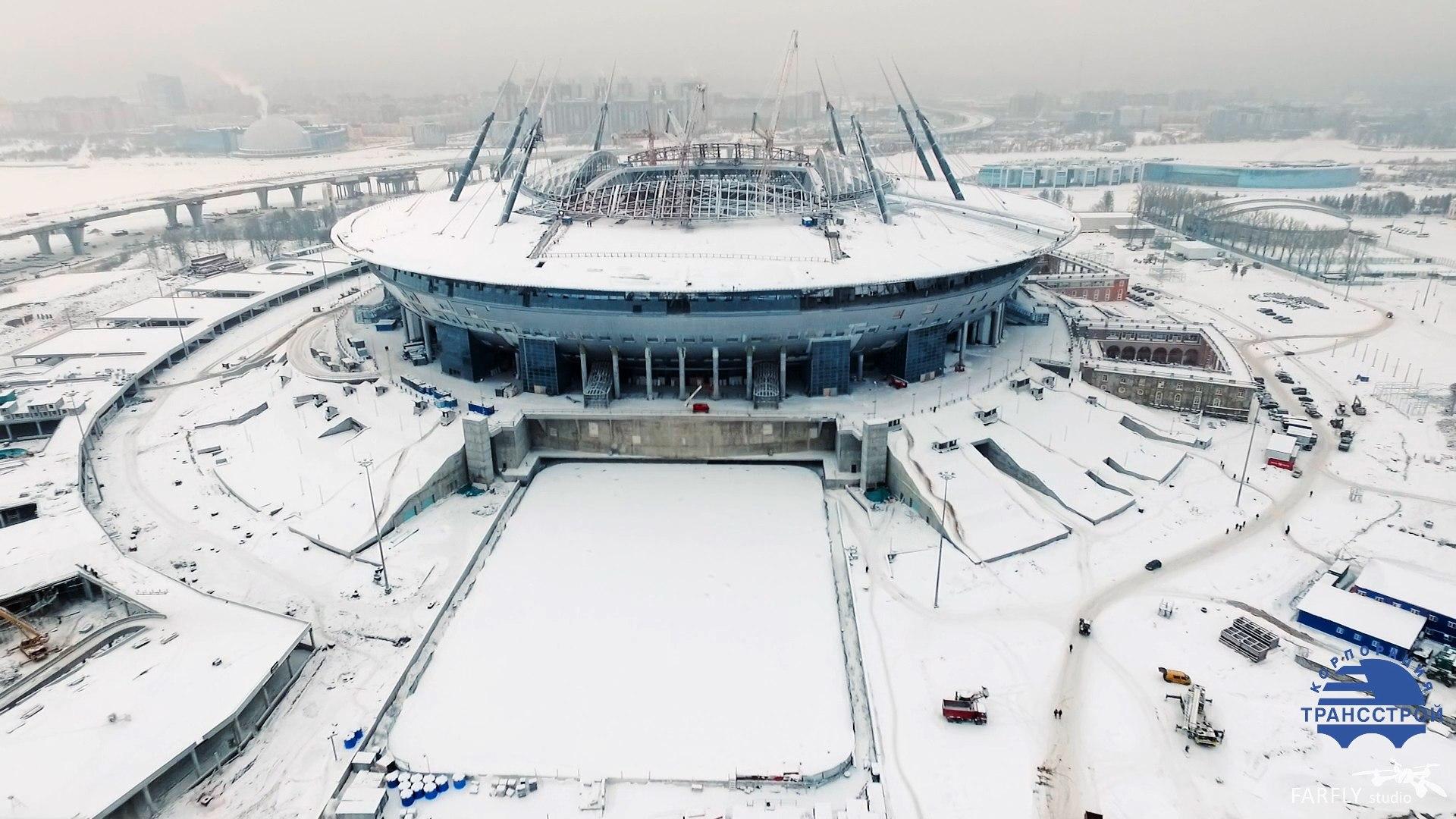 Стадион готов на 82%