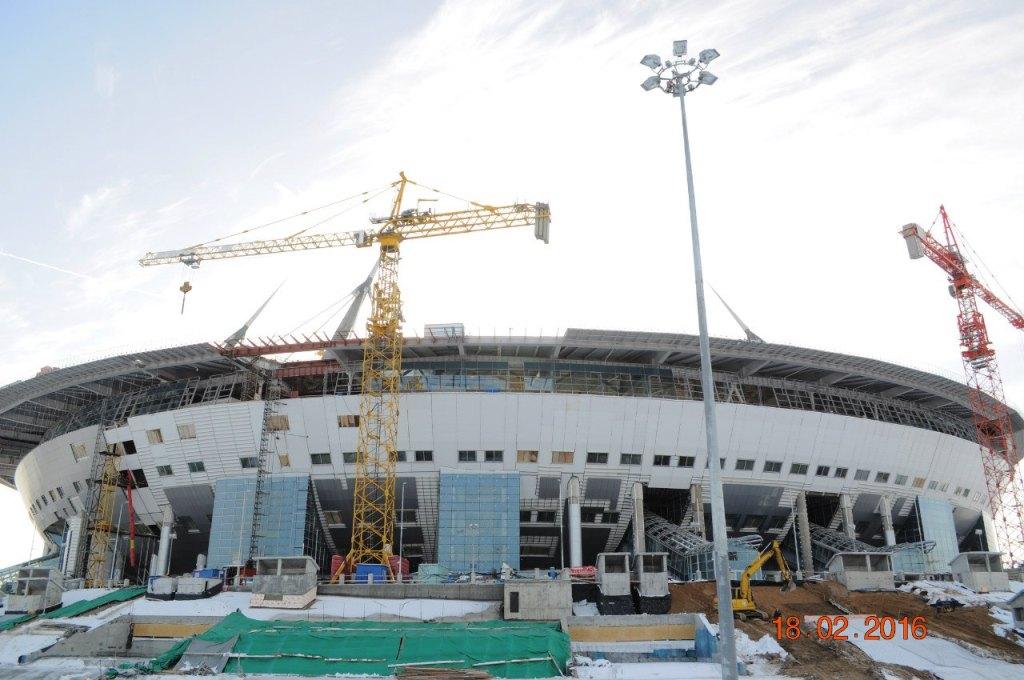 Фото стадиона от 18 февраля