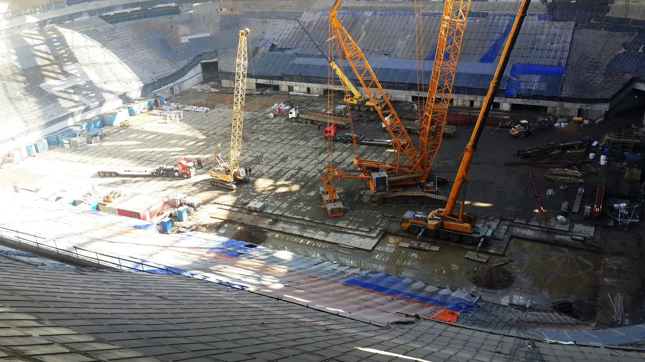 Кран покинул стадион на Крестовском