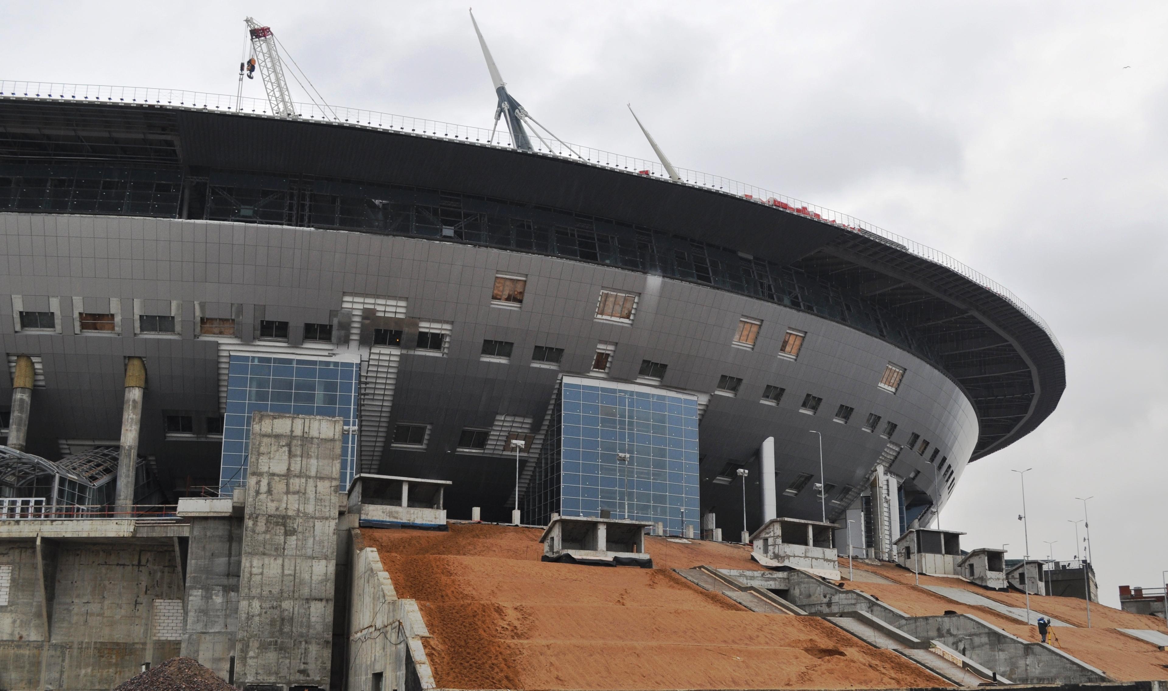 Фото стадиона от 11 февраля