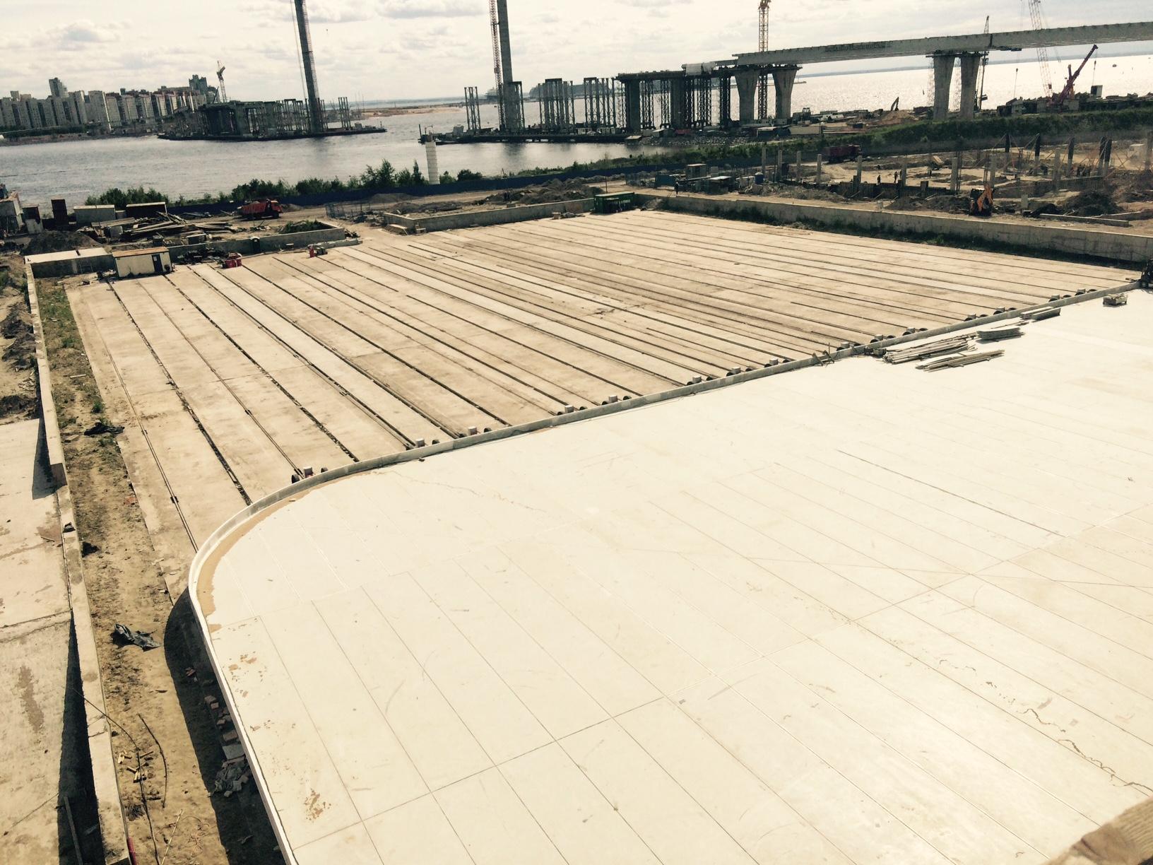 «Трансстрой» завершил монтаж металлоконструкций выкатного поля на стадионе в Санкт-Петербурге