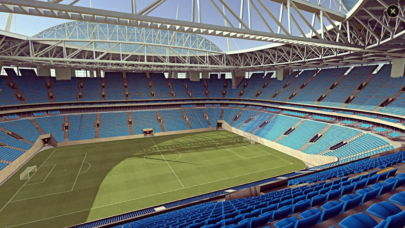 На официальном сайте ФИФА появился виртуальный панорамный обзор стадиона на Крестовском острове