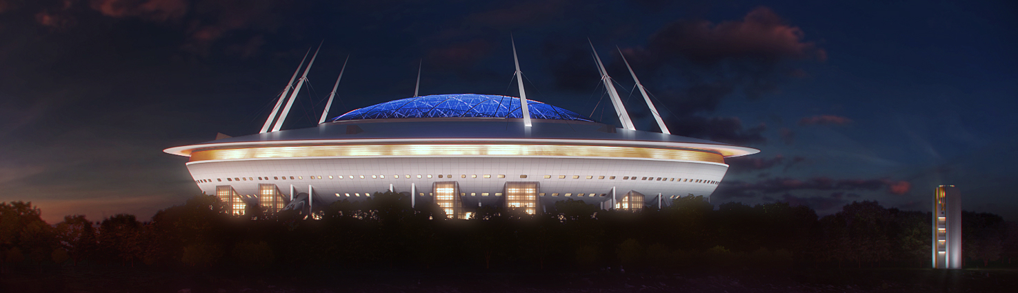 Transstroy set the decorative lighting of the stadium in St. Petersburg
