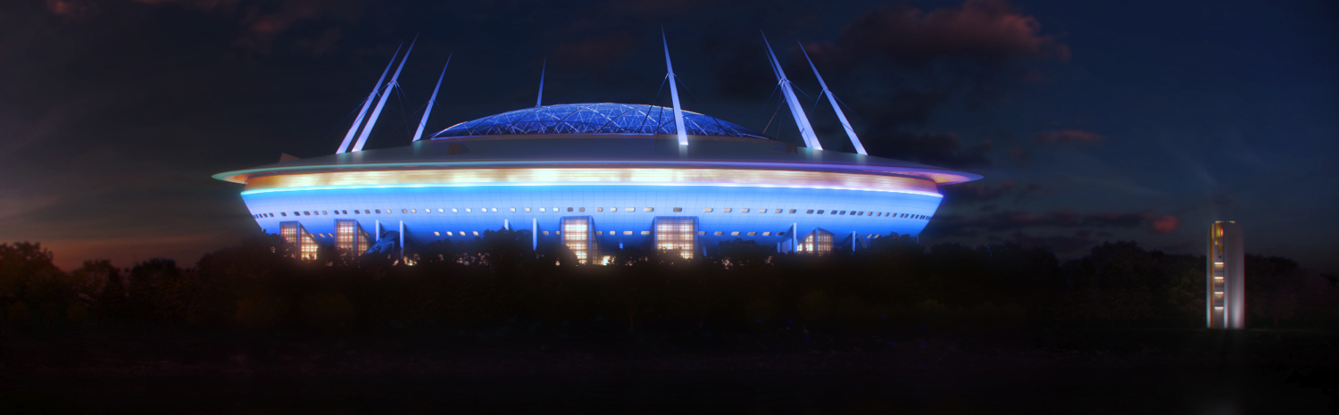Transstroy proceeds to the exterior of the stadium in St. Petersburg