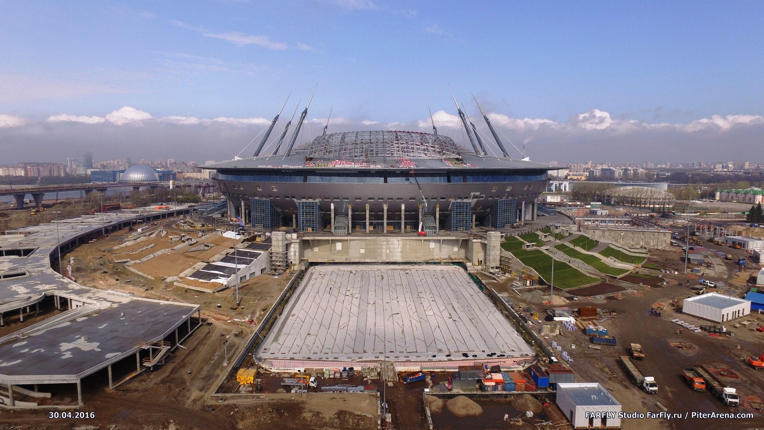 ВИДЕО. Стадион на Крестовском с воздуха