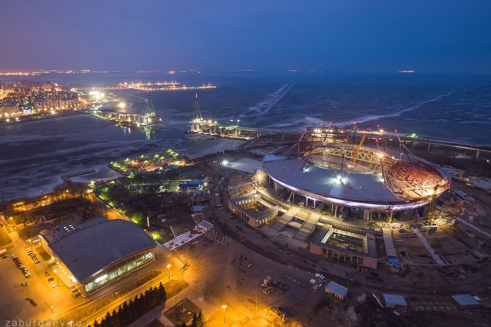 «Инжтрансстрой-СПб»: отчёт за март. На стадионе завершены самые сложные работы